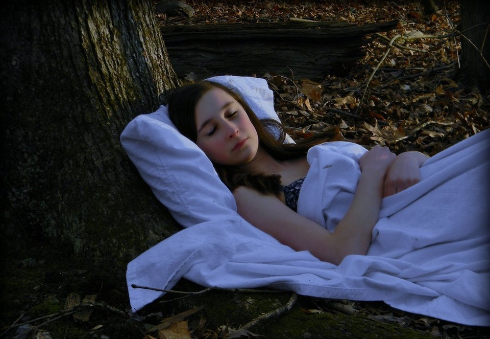Girl Sleeping Under Tree - Teen Rehab