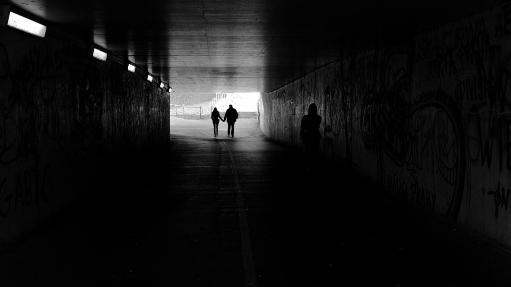 Teen Couple Walking In Tunnel - Teen Rehab