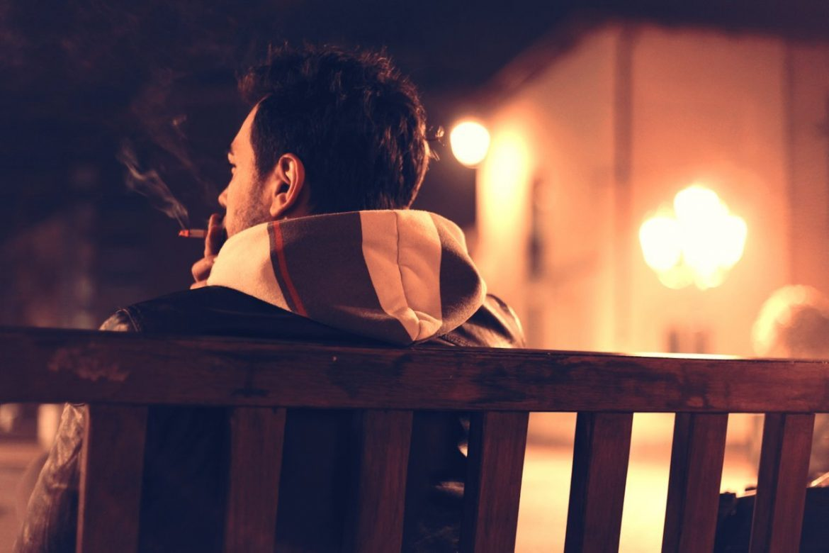Teen Sitting Smoking Cigarette - Teen Rehab