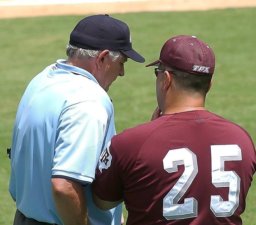 Umpire Coach Talking - Teen Rehab