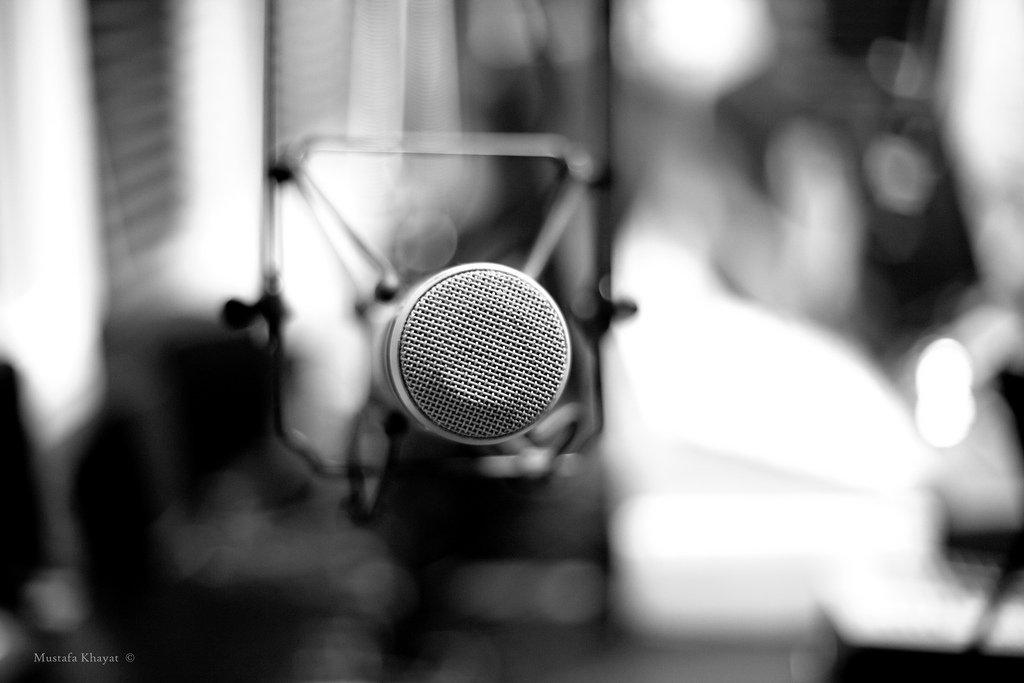 B&W Microphone - Teen Rehab