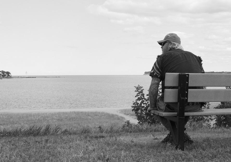 Dad Sitting By Lake - Teen Rehab