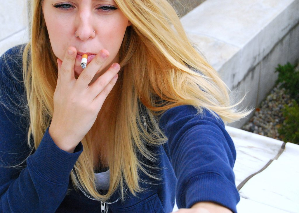 Girl Smoking Cigarette - Teen Rehab