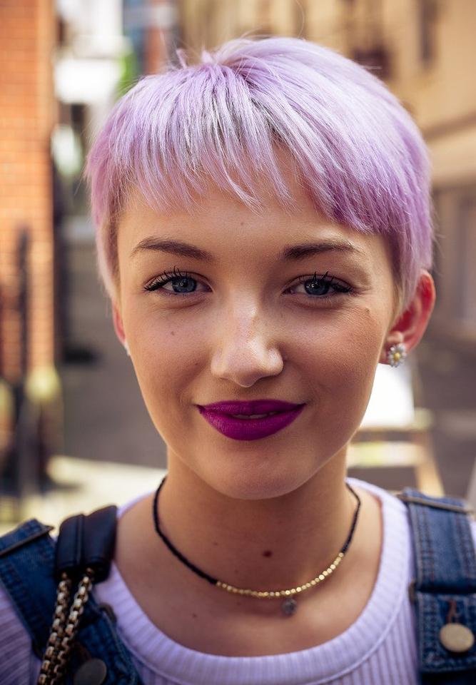 Girl With Purple Hair - Teen Rehab