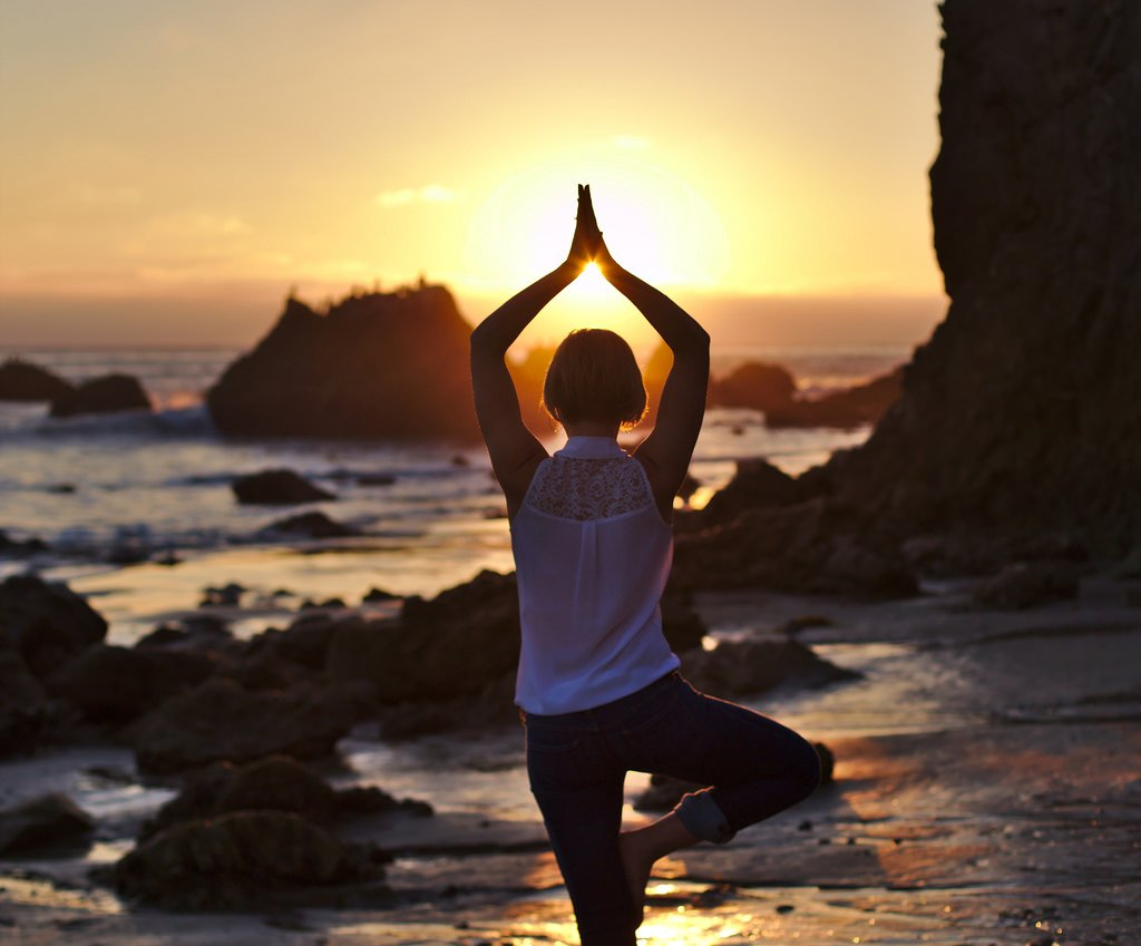 Girl Yoga at Sunset - Teen Rehab
