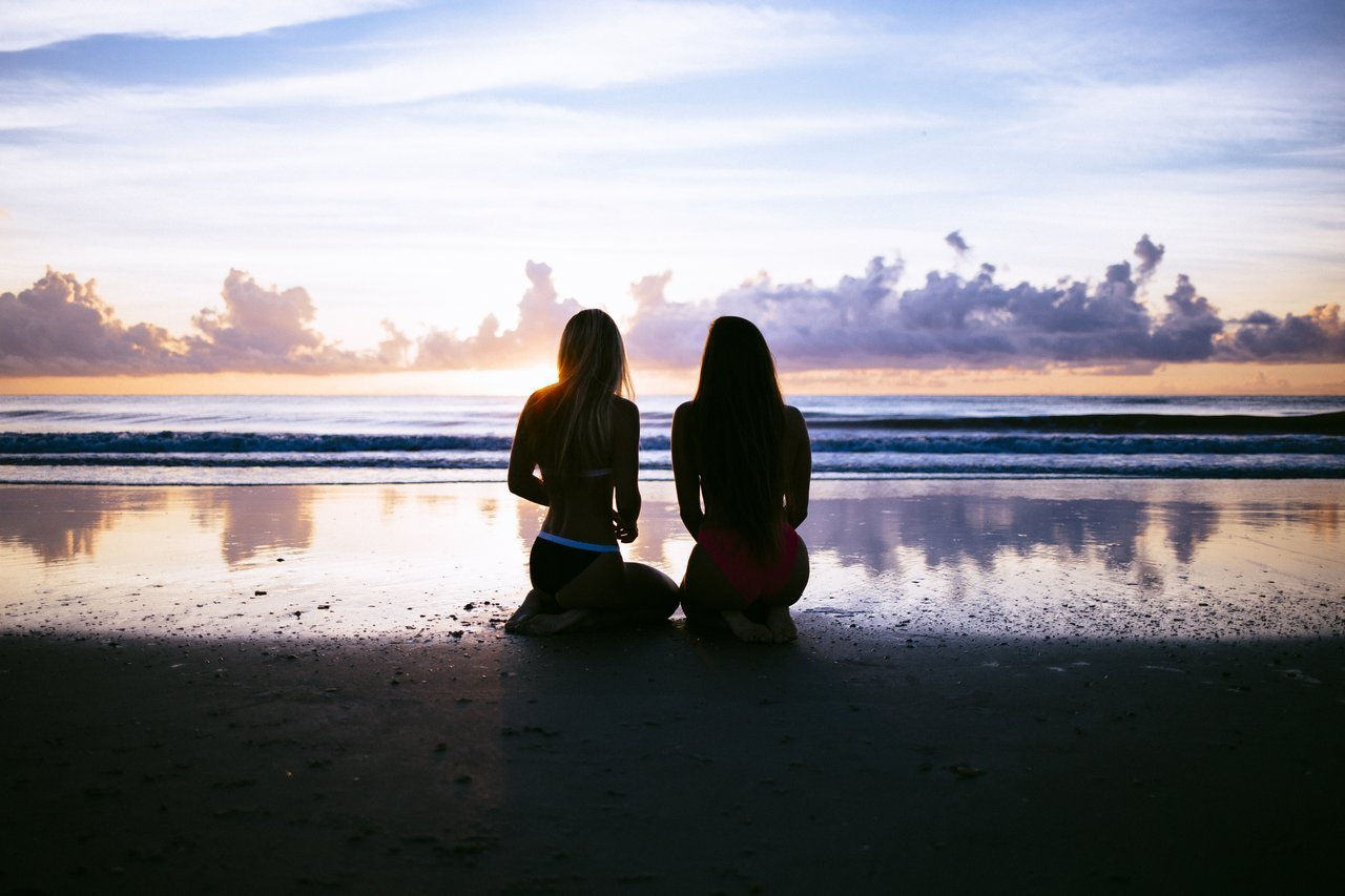 Girls Sitting At Beach - Teen Rehab