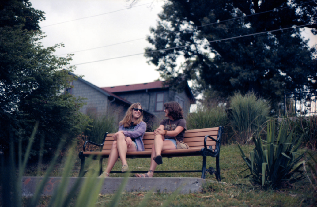 Girls Talking On Park Bench - Teen Rehab
