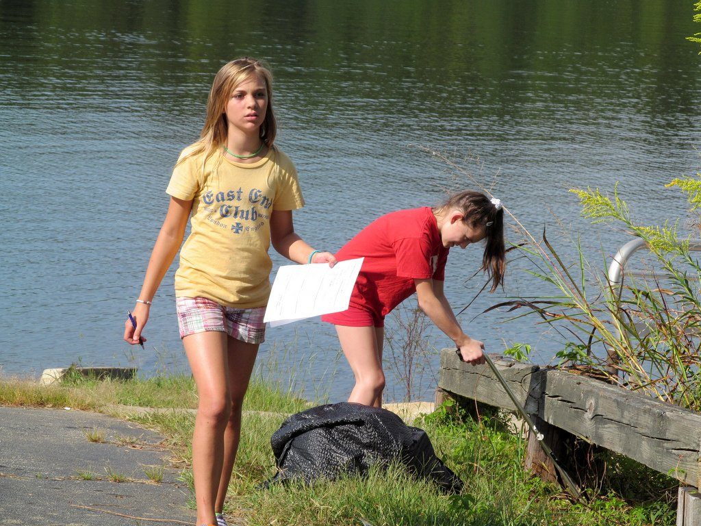Girls Working By Lake - Teen Rehab