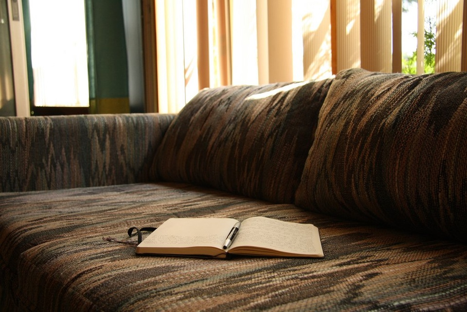 Journal on Couch - Teen Rehab