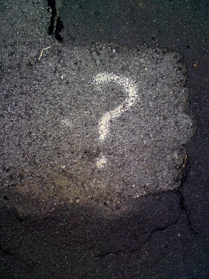 Question Mark on Pavement - Teen Rehab