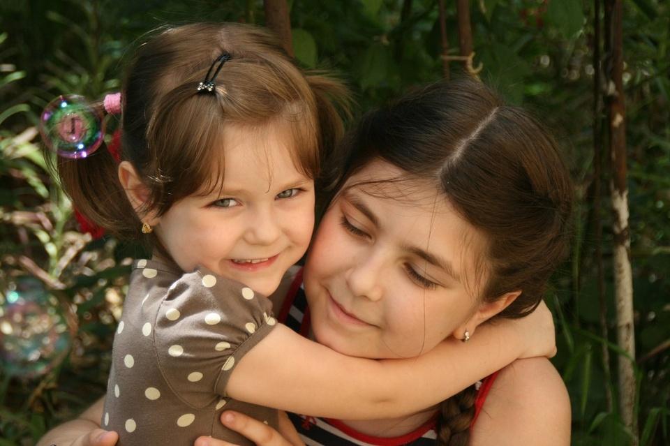 Sisters Hugging - Teen Rehab