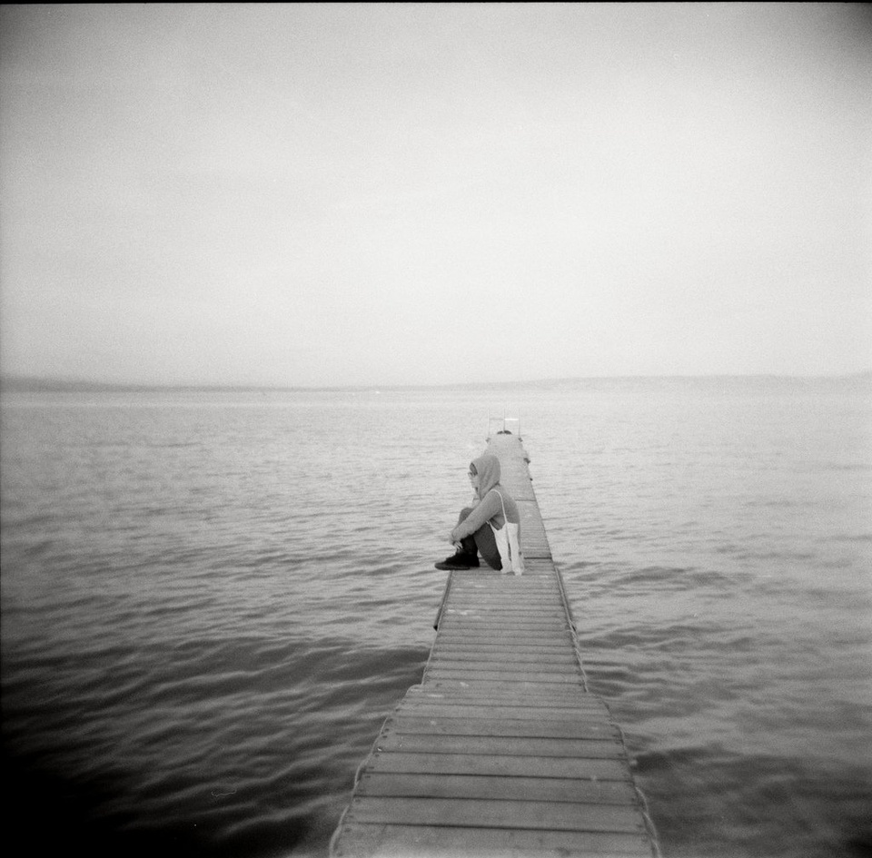Teen on Dock B&W - Teen Rehab