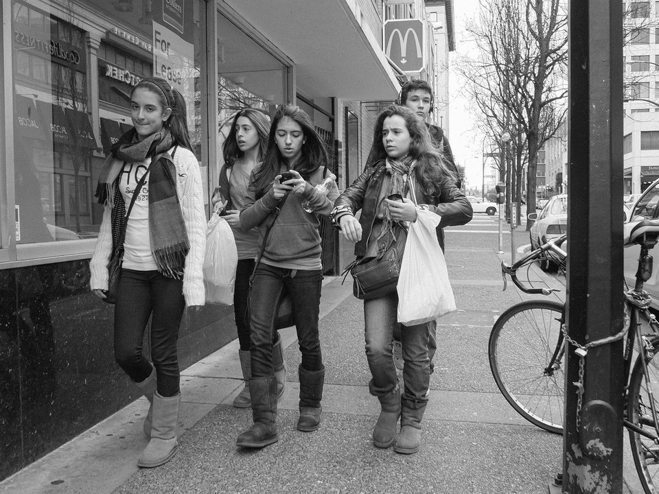 Teens on Street B&W - Teen Rehab