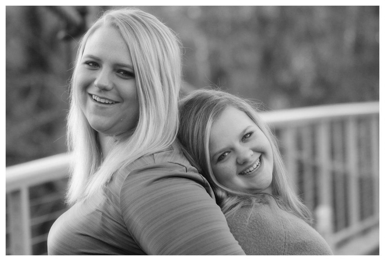 sisters black white