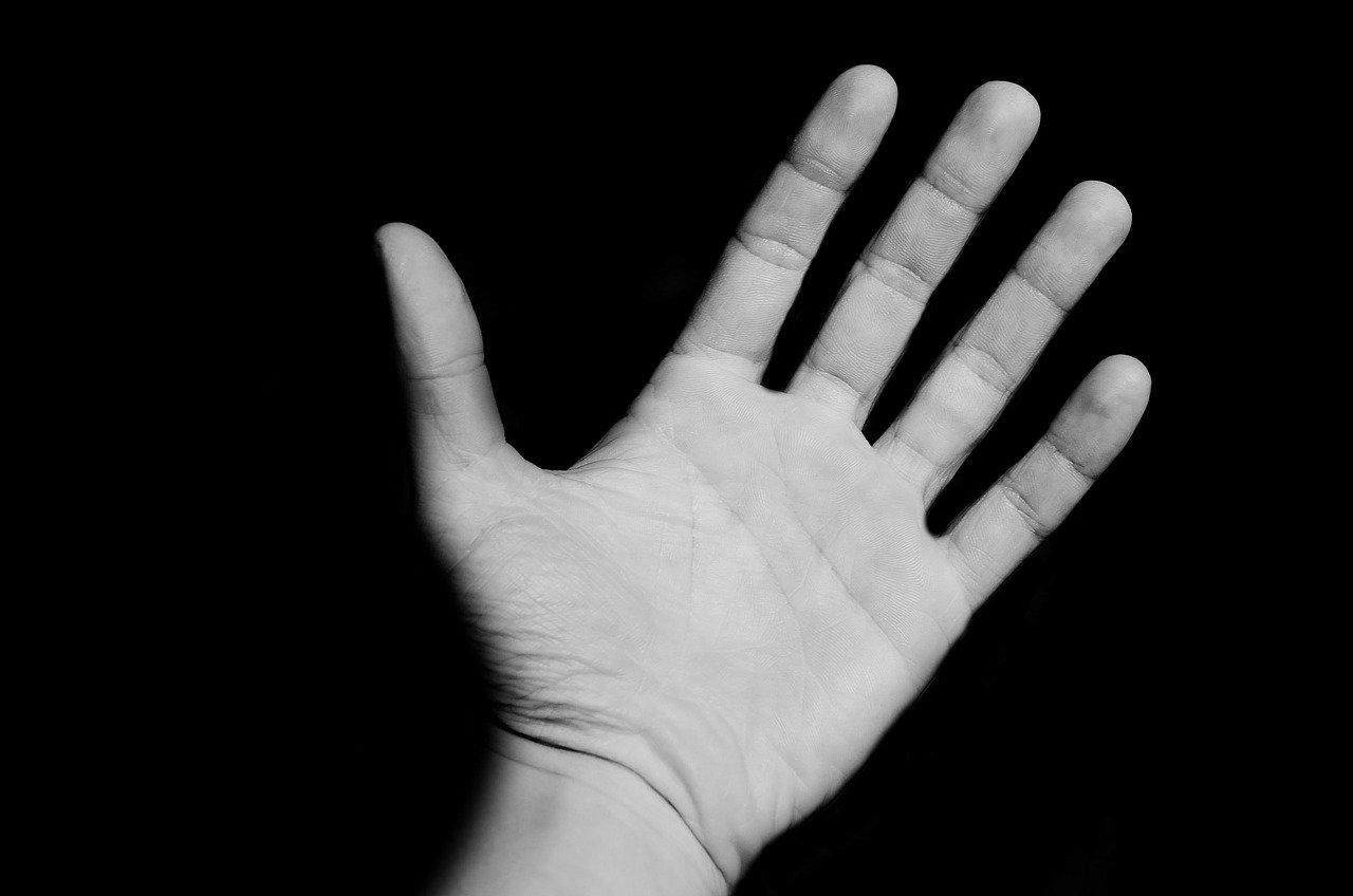 Hand Black White - Teen Rehab