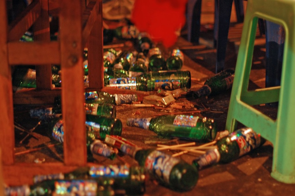 Beer Bottles On Floor - Teen Rehab
