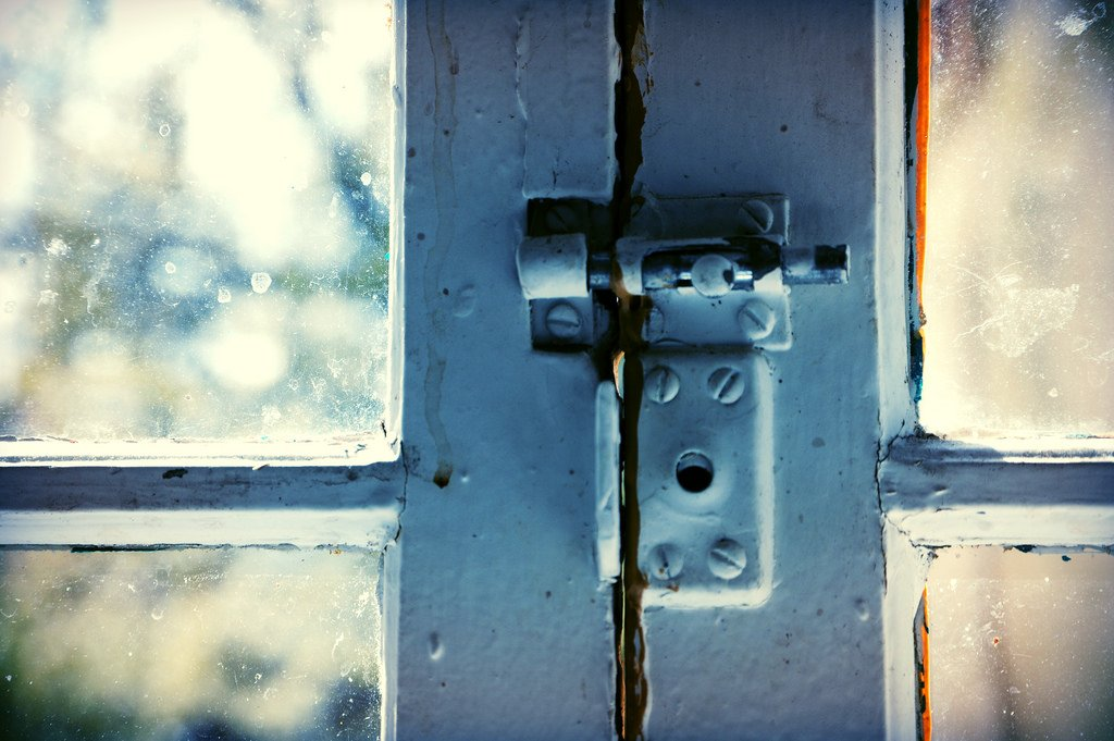 Closeup Of Window Lock - Teen Rehab