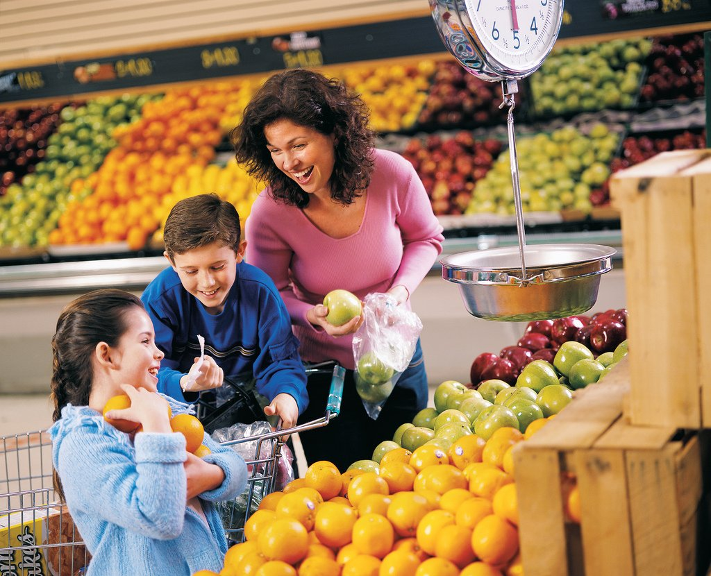 Family Laughing Fruit Section Grocery Store - Teen Rehab