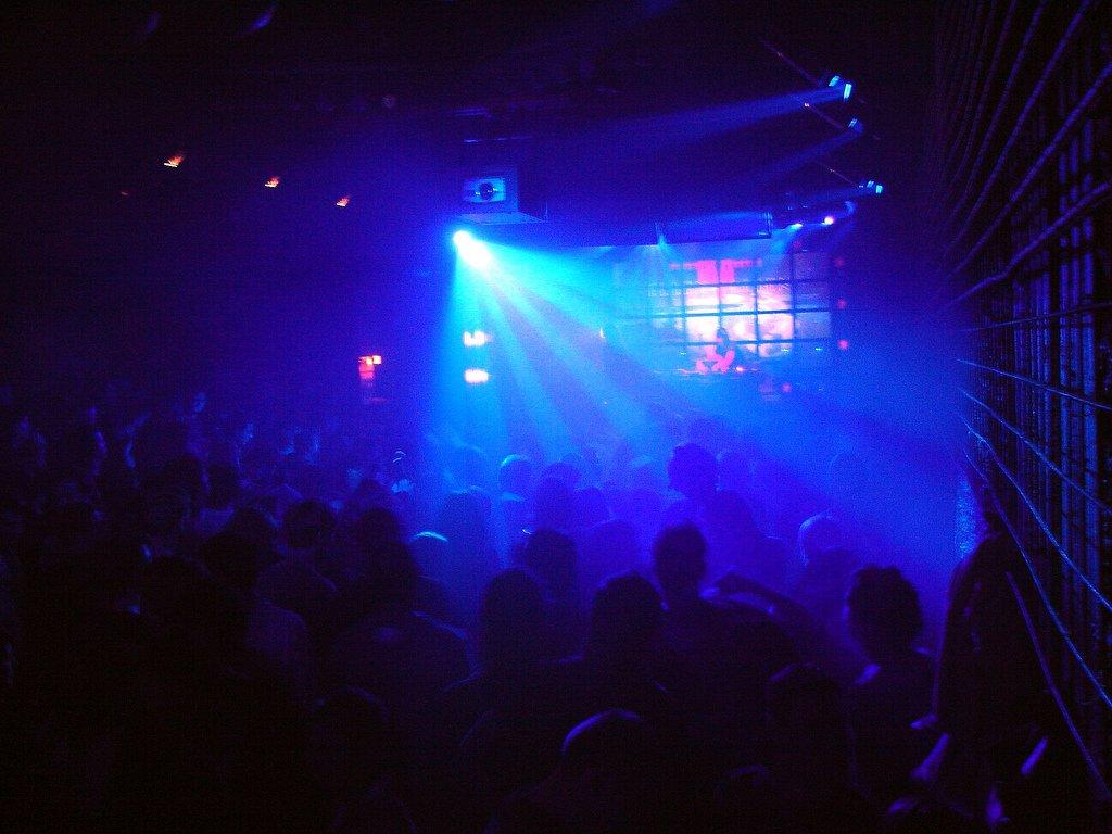 Strobe Light Over Dance Floor - Teen Rehab