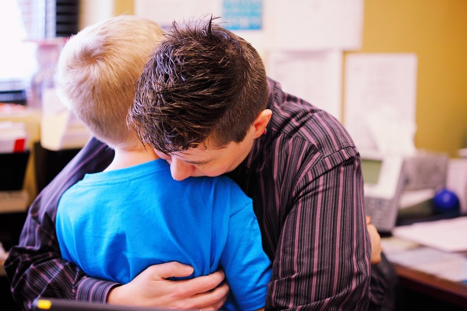 Father Son Hugging - Teen Rehab