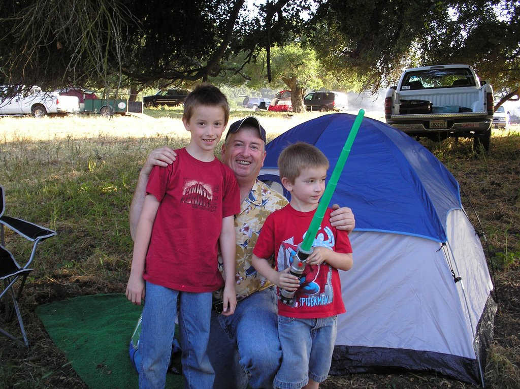 Father Sons Pitching Tent - Teen Rehab