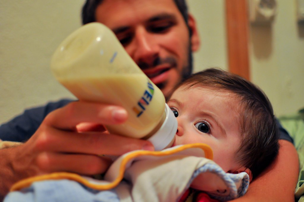 Dad Feeding Baby - Teen Rehab