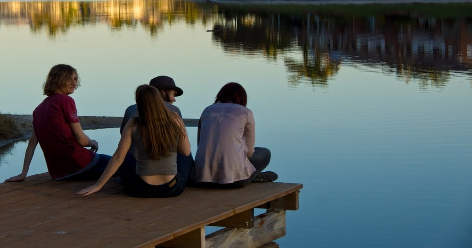 Teens on Dock - Teen Rehab