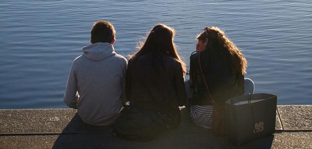 teens group water