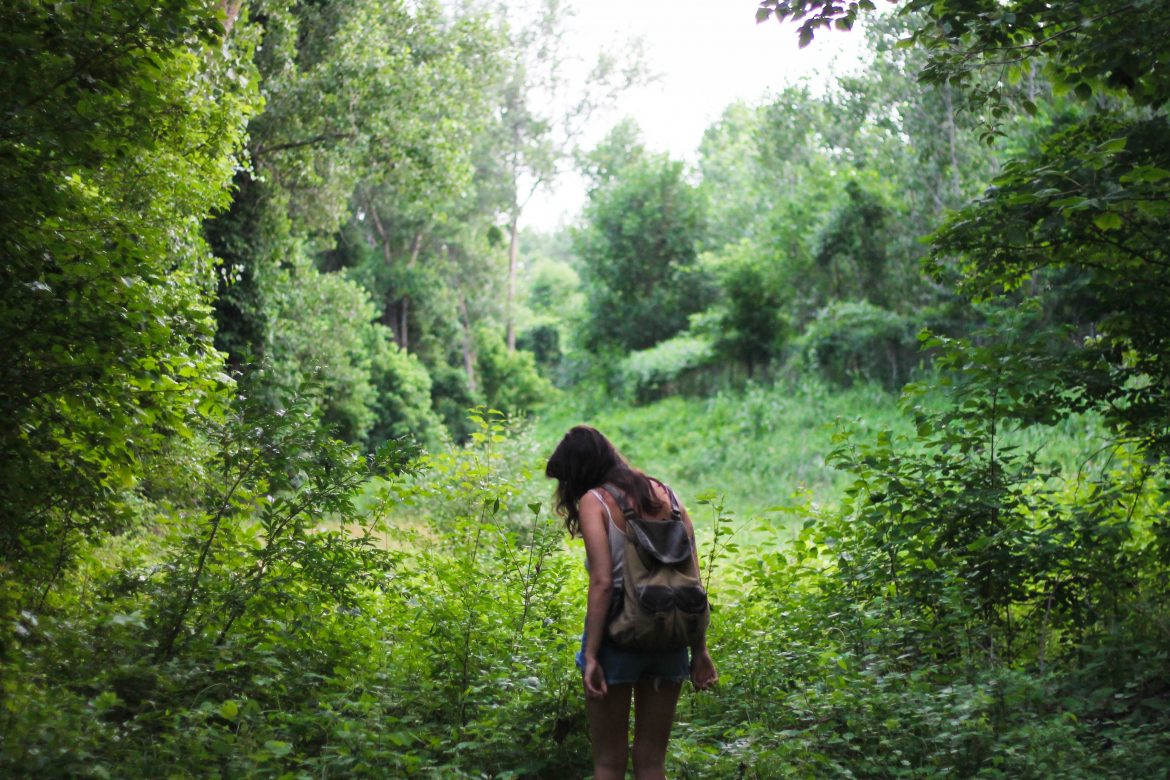 nature outdoors trees plants grass woman girl