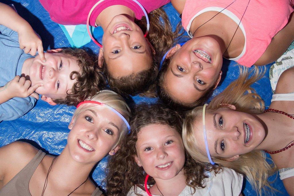 Teens Laying in Circle - Teen Rehab