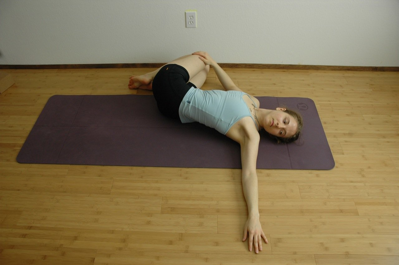Twist Yoga Pose