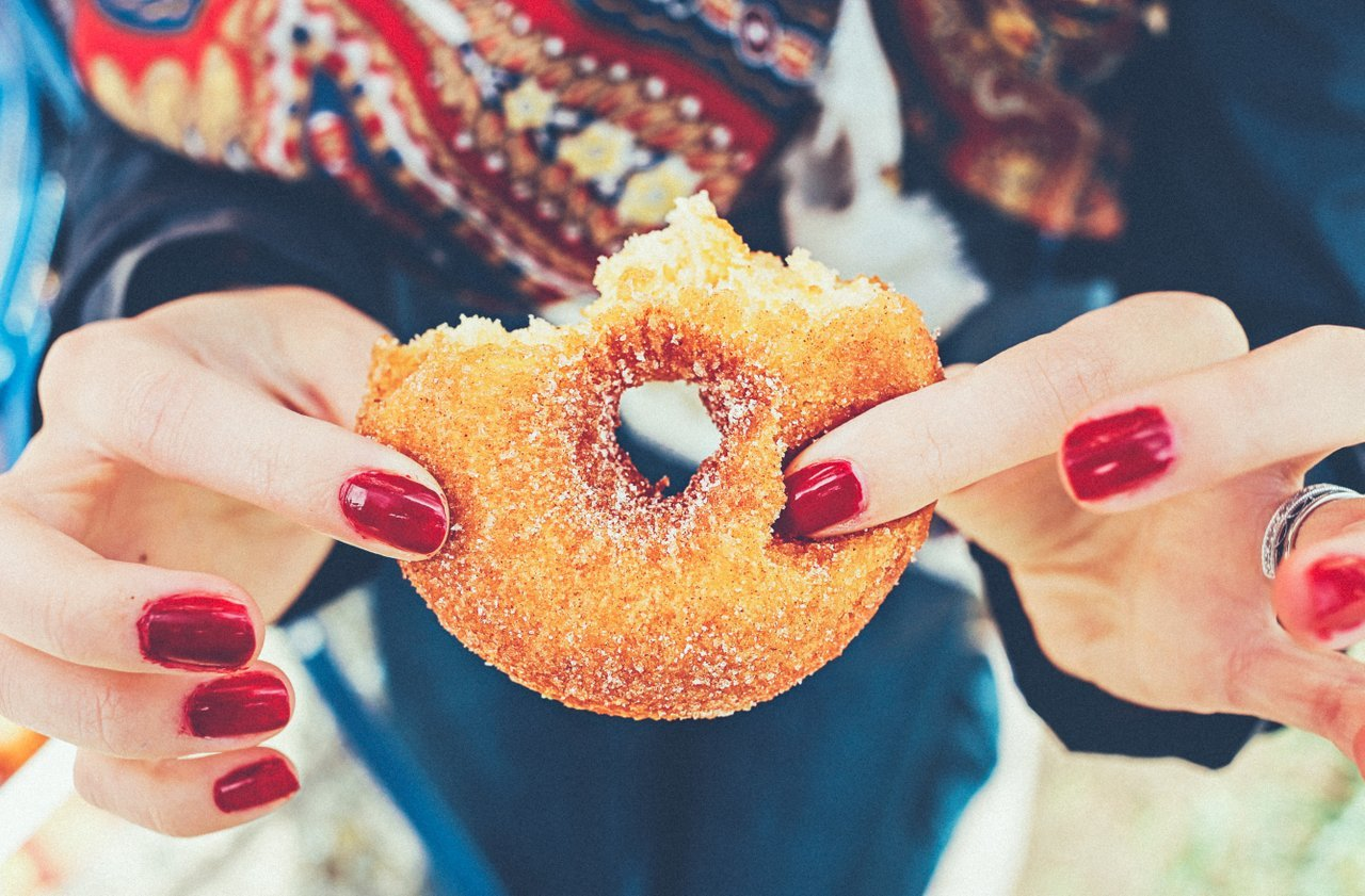 Replacement cravings unhealthy food donut