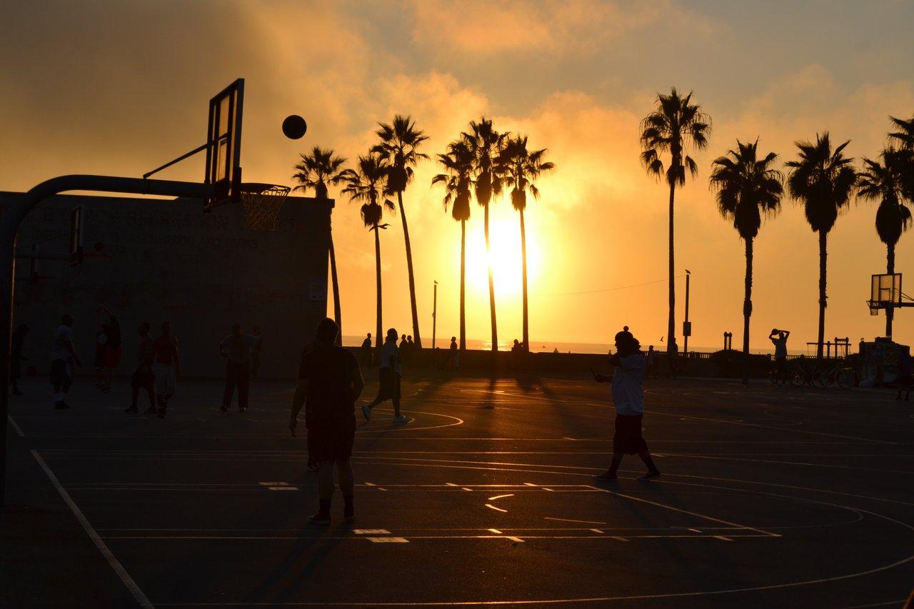 Teens on Basketball Court