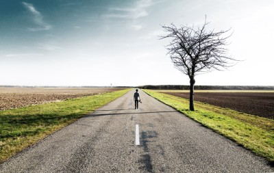 person open road horizon outdoors