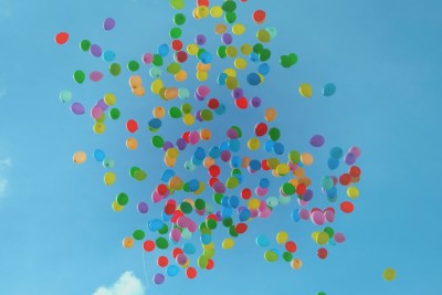 balloons colors sky