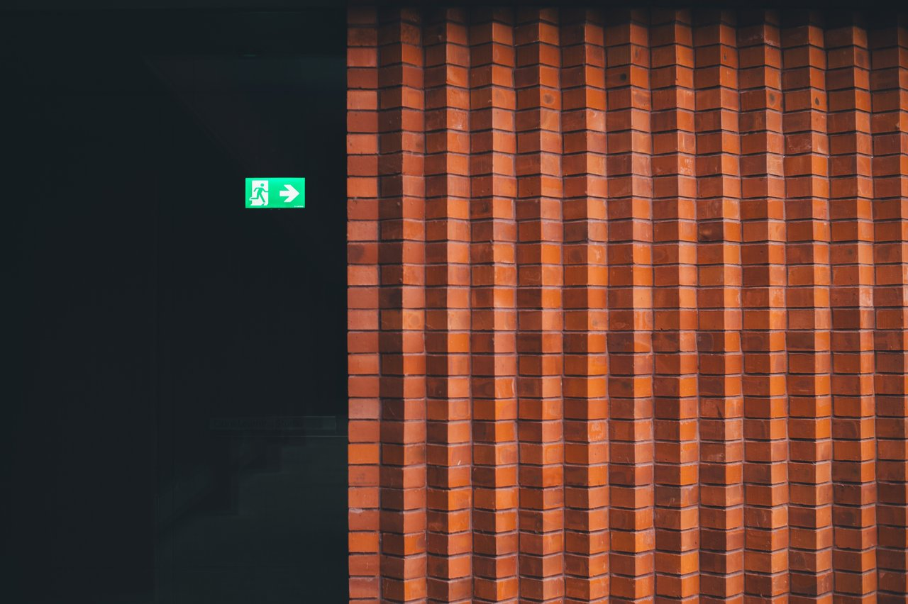 Repeated pattern of brick wall