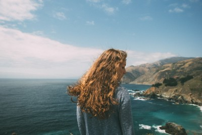 girl hair ocean nature