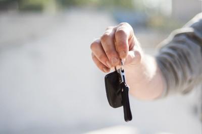 person man hands keys car