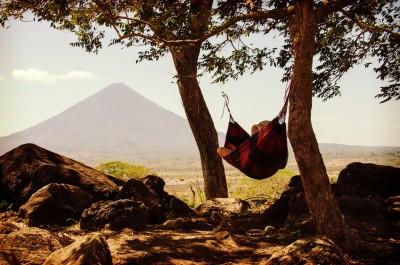 person hammock nature