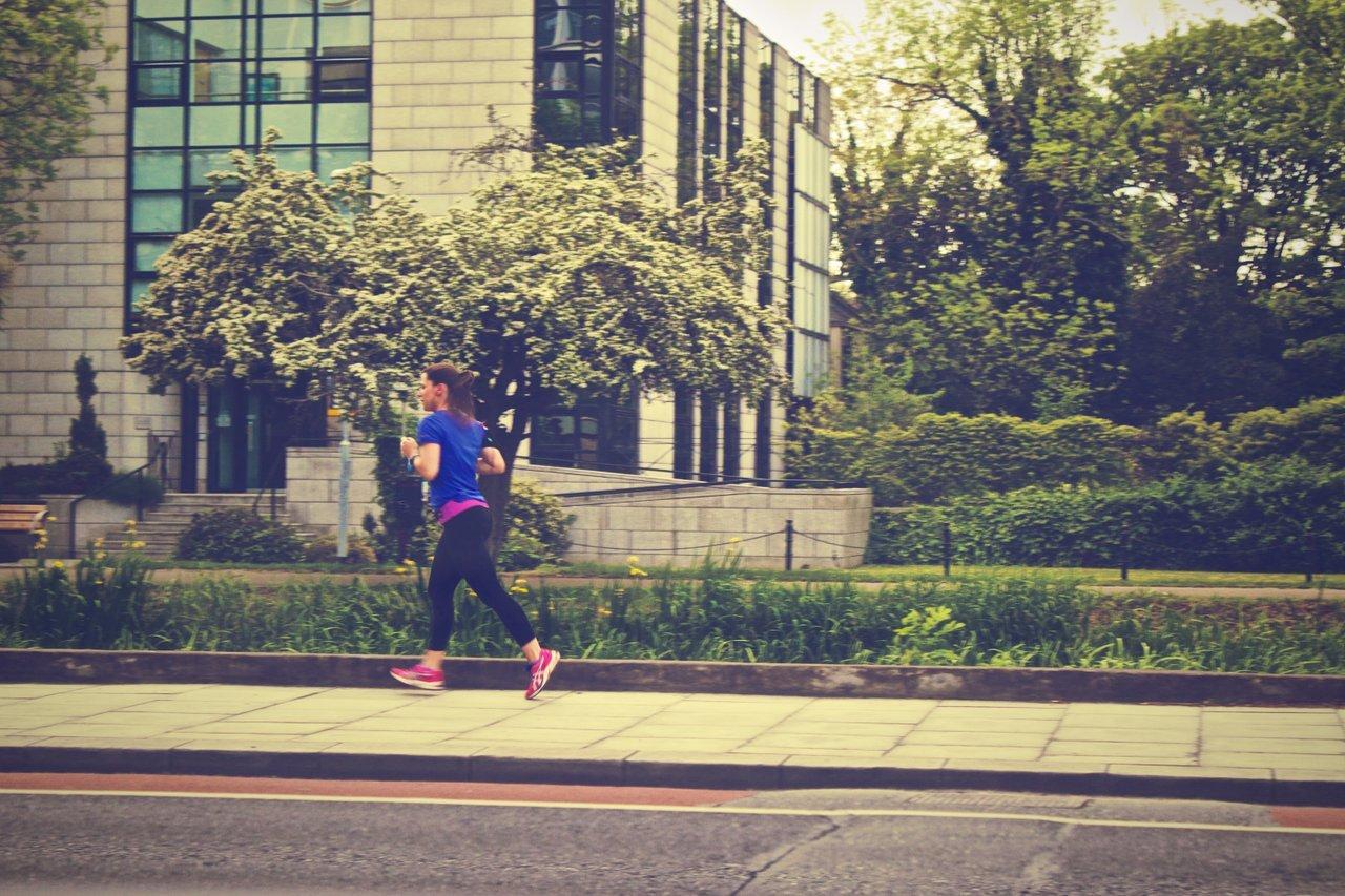 teen running outside