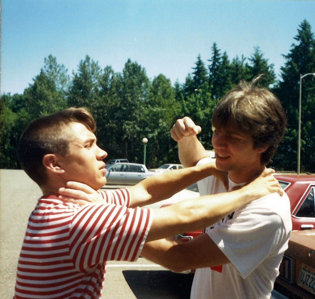 teen boys fighting