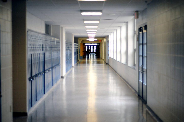 school hallway corridor