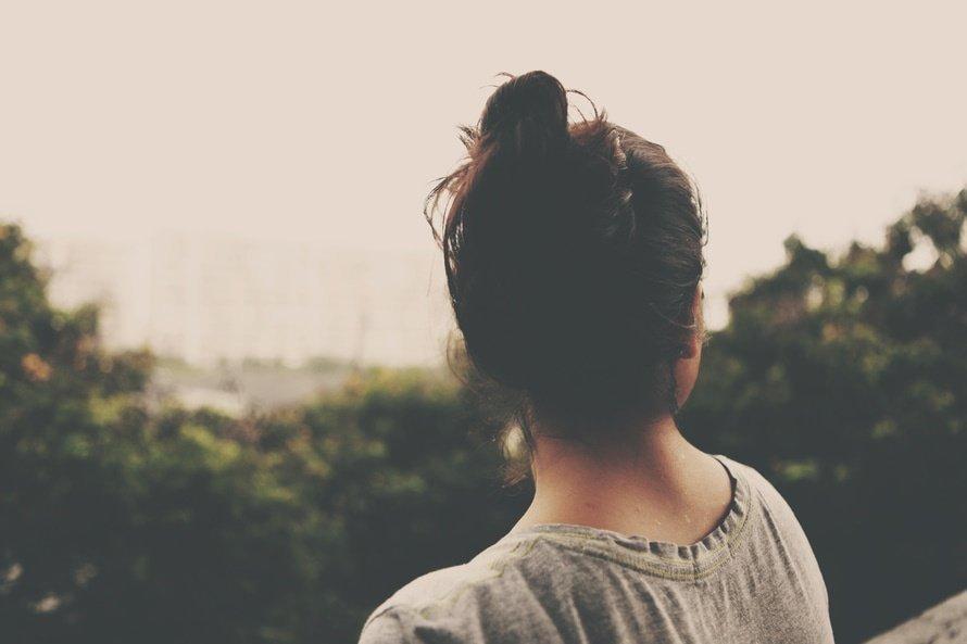 teen girl pensive