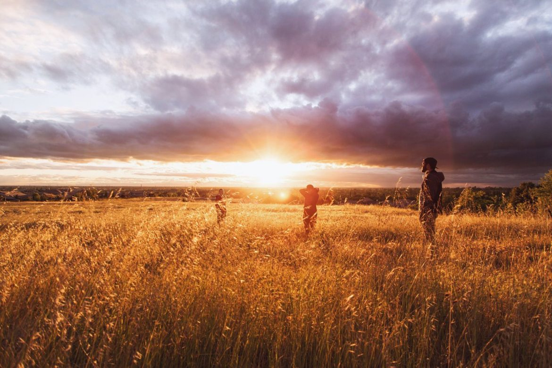 teens field sun