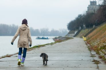 Activities to Deal with Anger - Girl Walking Dog - Teen Rehab